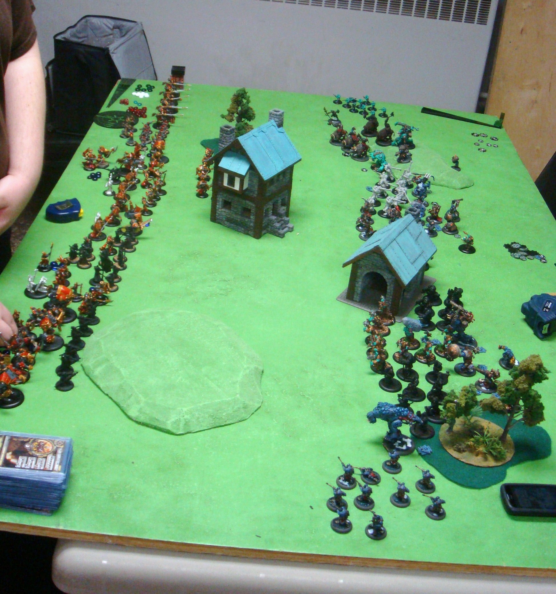 Warmachine Hordes Protectorate of Menoth Trolls 150pt Battle Report - Part 1