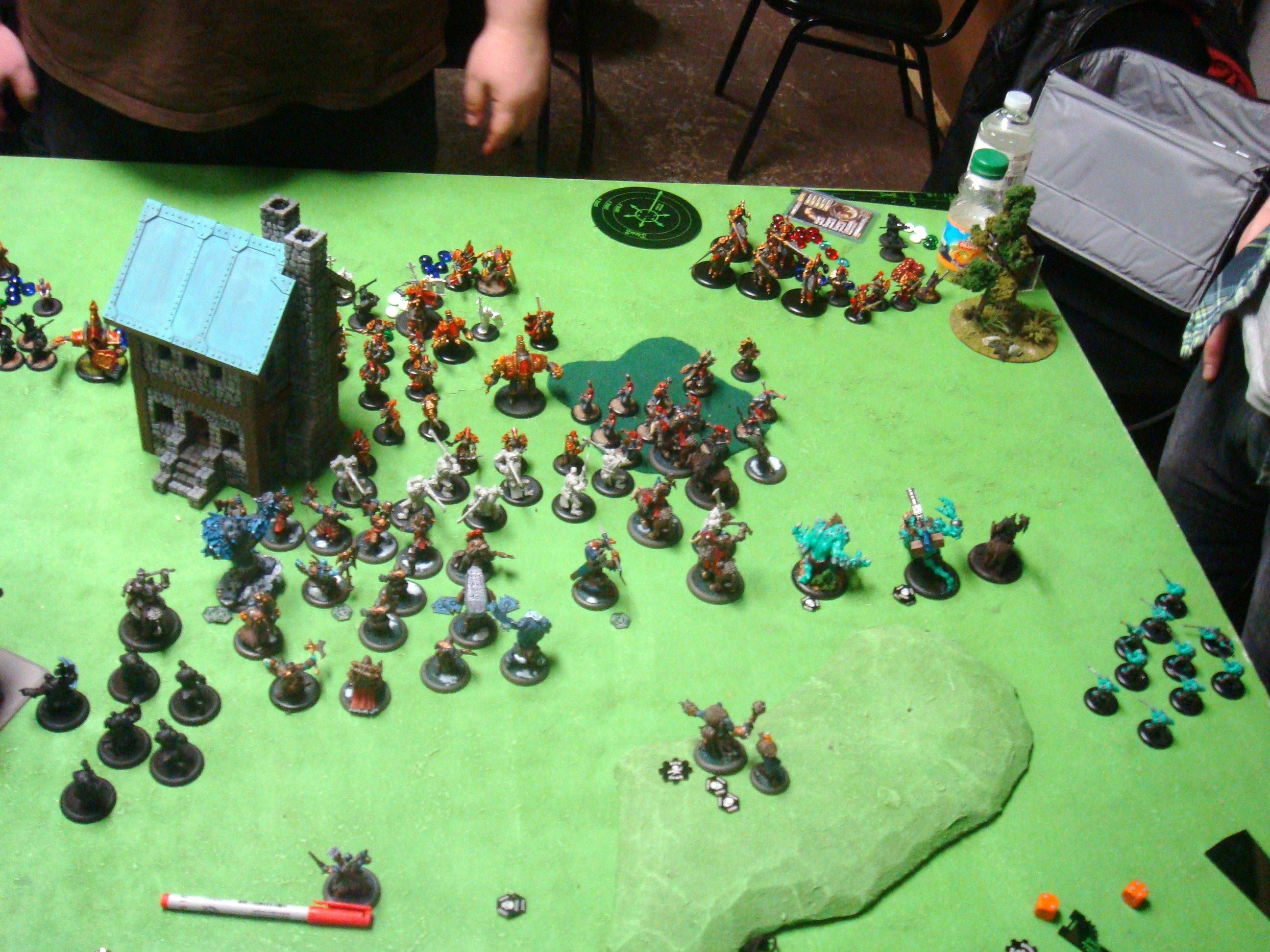 Warmachine Hordes Protectorate of Menoth Trolls 150pt Battle Report - Part 2